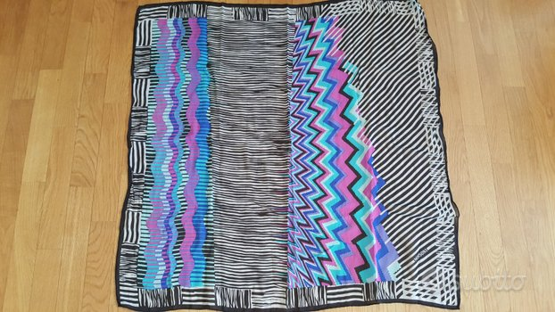 Coloratissimo foulard vintage originale Missoni