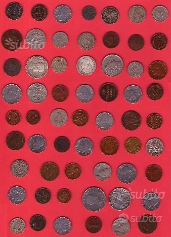 Lotto di monete antiche (1840 e '900)