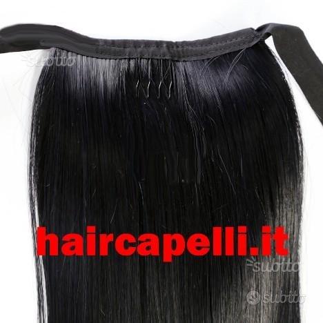 Extension coda di cavallo capelli veri umani 50/55