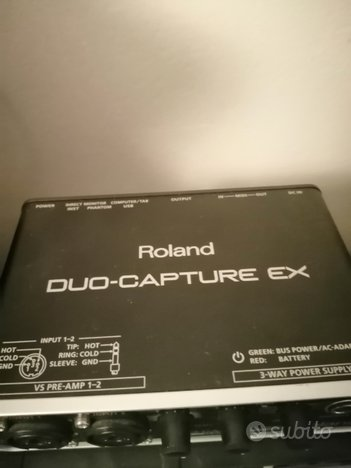 Scheda audio Roland duo capture