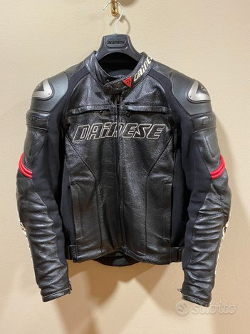 Giacca moto pelle Dainese tg. 46