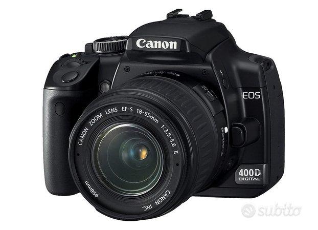 Fotocamera reflex canon eos 400d con borsa e memor