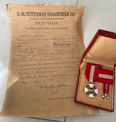 Set Completo Cavaliere Della Gran Corona 1921