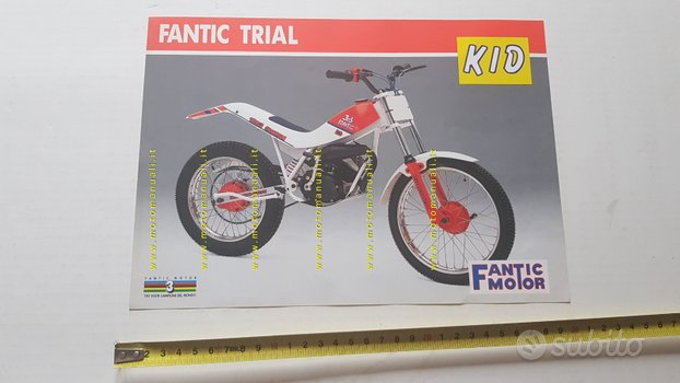 Fantic Motor Trial 50 Kid depliant originale 1989