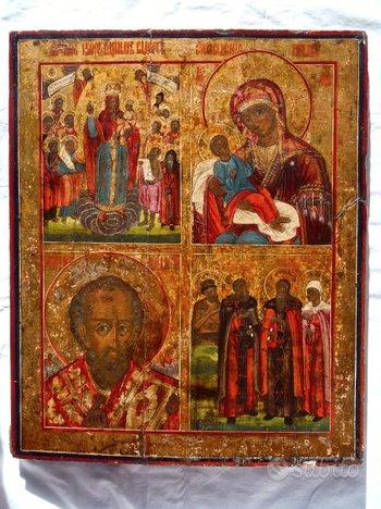 Icona russa antica originale