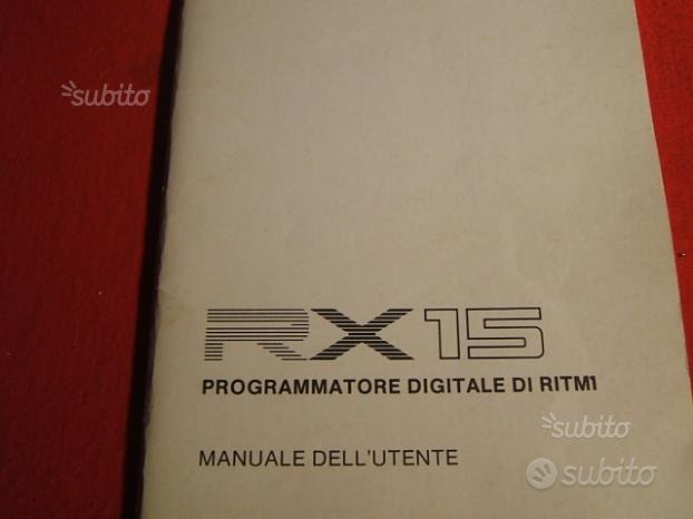 Manuale batteria elettronica yamaha RX15
