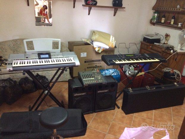 Mixer, casse, tastiere
