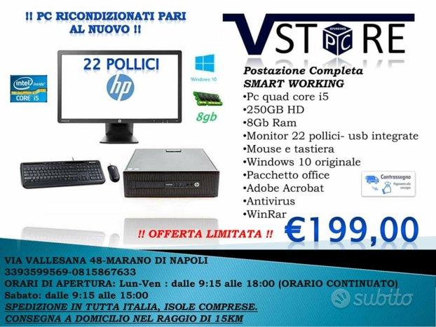 Postazione completa I5 8gb Monitor 22 SmartWorking