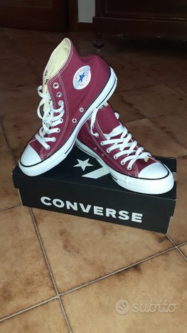 Converse All Star NUOVE (n.41 colore bordeaux)