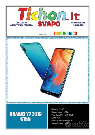Huawei y7 2019 nuovo