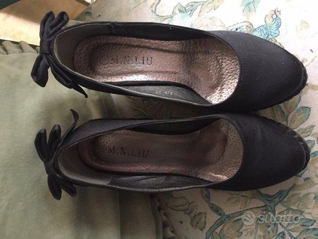 Scarpe in raso nere