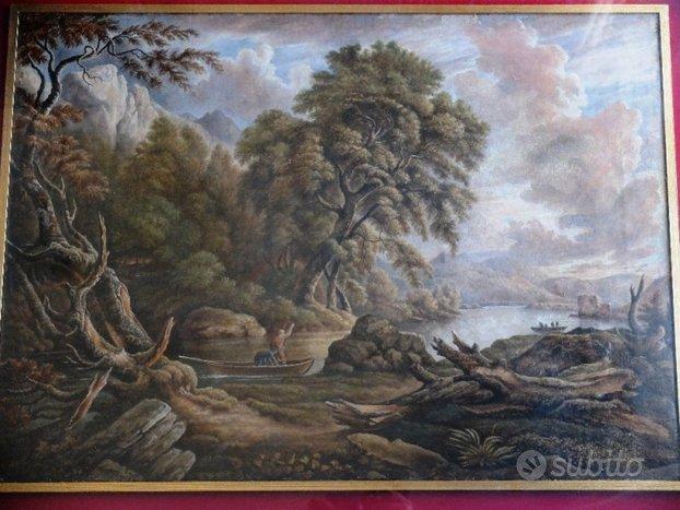 Paesaggio fluviale del XIX secolo