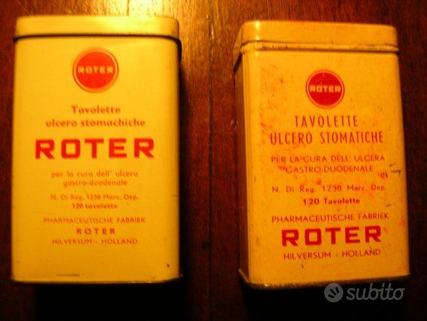 Scatole di latta Roter vintage medicinale