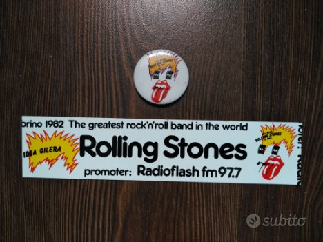 Adesivo e spilla Rolling Stones
