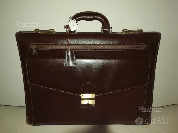 Borsa 24 ore in pelle Amiet - leather bag case NEW