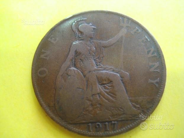 1 One Penny 1917 Inghilterra ( Rif. 117 )