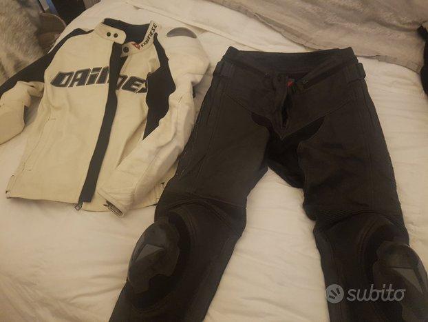 Giubbotto e pantalone DAINESE UOMO taglia 46 PELLE