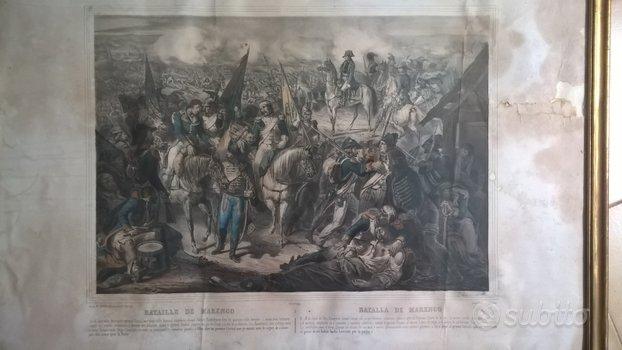Stampe antiche battaglie naoleoniche