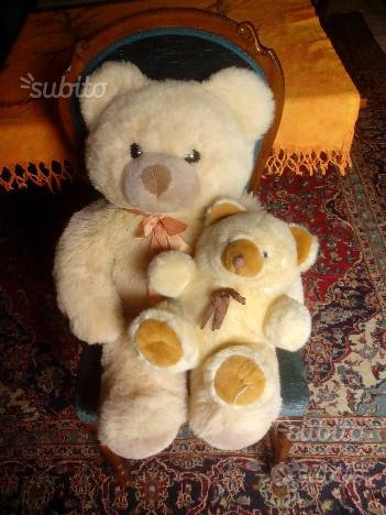 2 pelouche orso grande e orsetto cucciolo