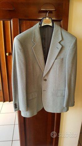 Giacca in lana cashmere azzurra morbida Tg M