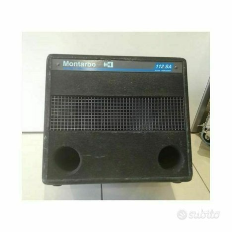 Montarbo subwoofer attivo 450 w rms con crossover