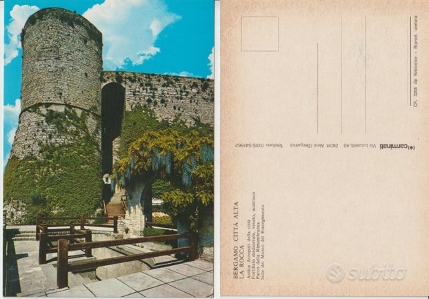 BERGAMO - Città Alta, La Rocca, Antica Acropoli de
