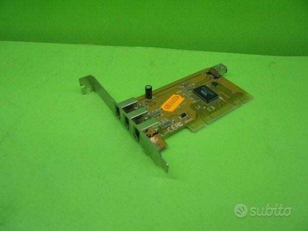 Scheda PCI con 3 porte firewire chipset VIA VT6306