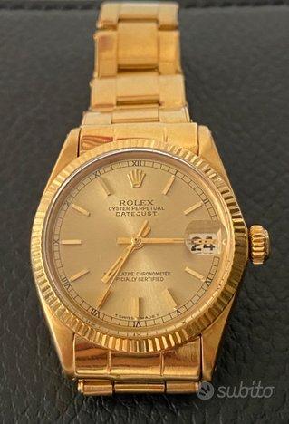 Rolex datejust lady 31 oro giallo
