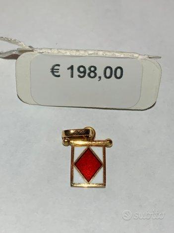 Ciondolo oro 18kt Giovepluvio 1.5gr Lettera F
