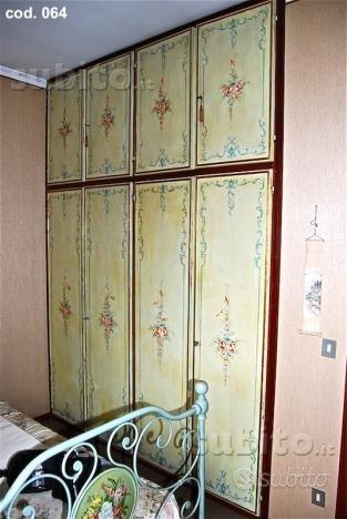 64_Ante dipinte in legno per armadio a muro - Arredamento ...