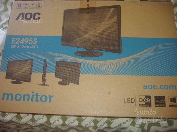 """Monitor pc 24"""" ultrapiatto"""