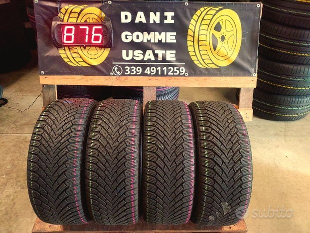 4 Gomme Usate 225 45 17 INVERNALI 80% CONTINENTAL