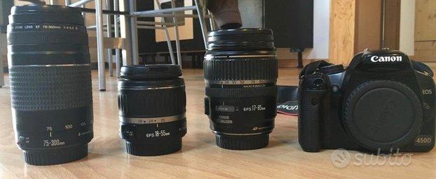 Canon Eos 450D + 3 obiettivi
