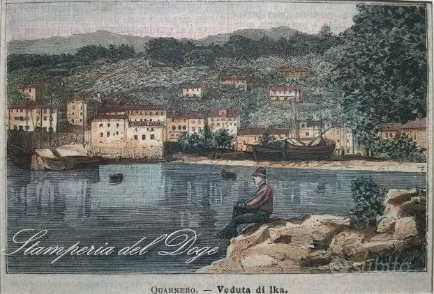 Croazia - Stampe Antiche originali d'epoca