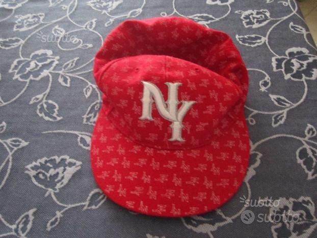 Berretto cappello NY YANKEES vintage rosso