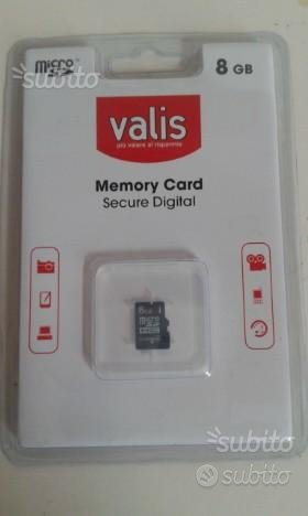 Scheda Micro SD Valis Memory Card 8GB