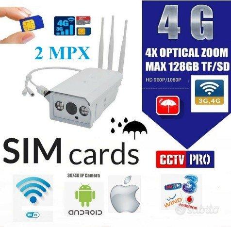 VIDEOSORVEGLIANZA Telecamera ip con sim 4g ip66