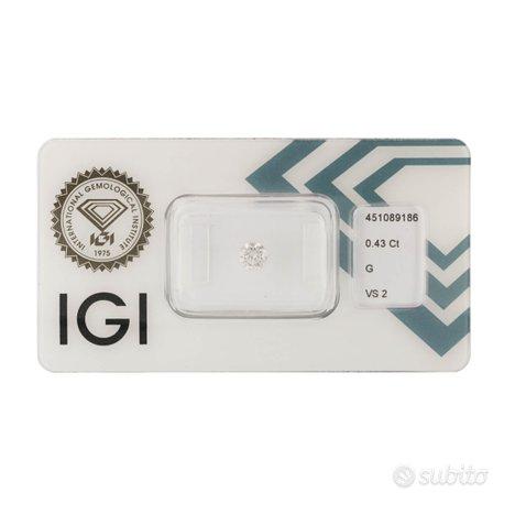 Diamante certificato IGI 0,43 ct