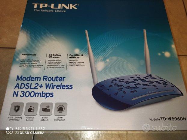 Modem router ADSL 2+ in garanzia