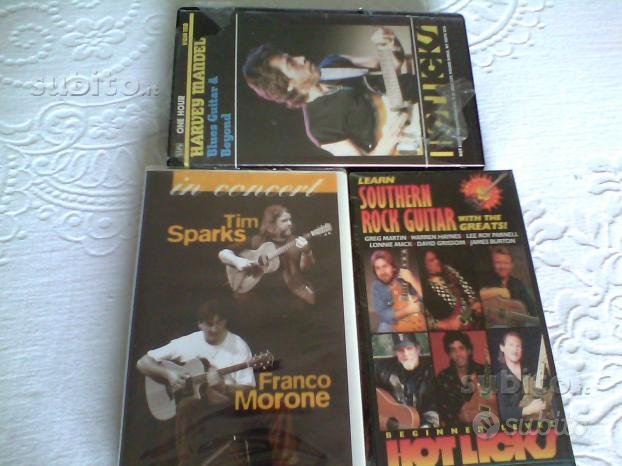 3 VHS DIDATTICA CHITARRA (imballati)