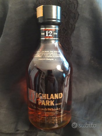 Highland Park Scotch Whisky 1980 Limited ed