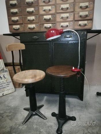 Lampada vintage Industrial anni 60 morsa
