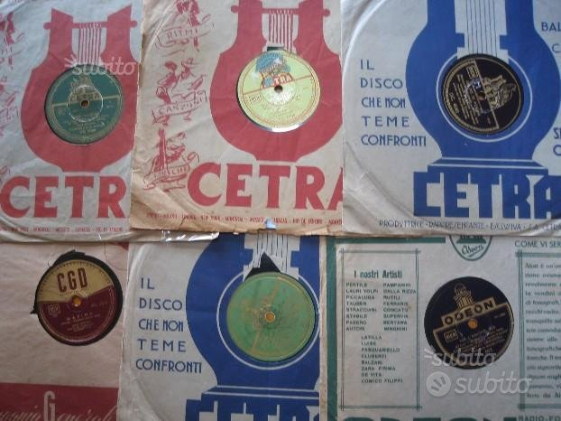 10 dischi a 78 giri CON COPERTINE anni 40/50