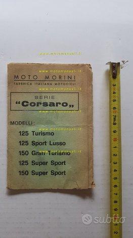 Moto Morini Corsaro 125-150 anni 70 manuale uso