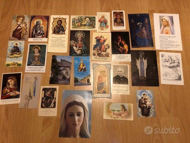 Lotto di santini e immagini sacre