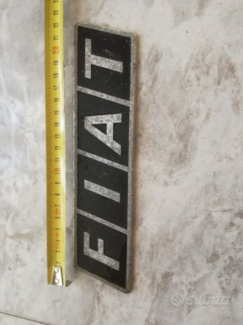 Targa logo stemma fregio vintage