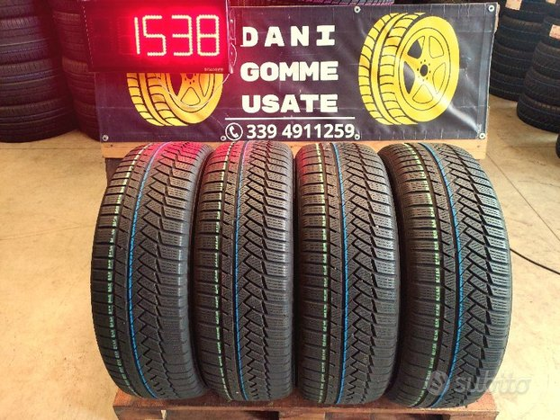 4 Gomme Usate 225 55 19 INVERNALI 75% CONTINENTAL