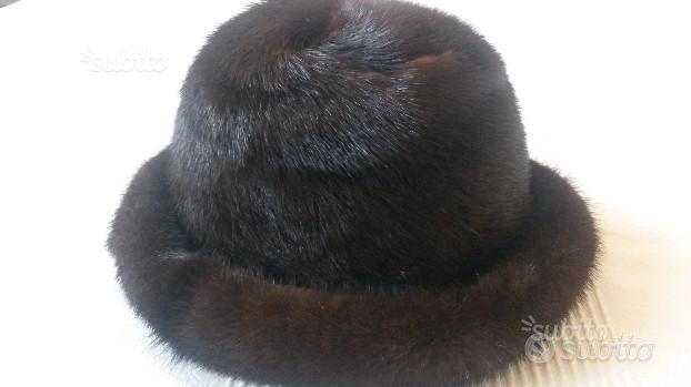 Cappello in vera pelliccia di visone