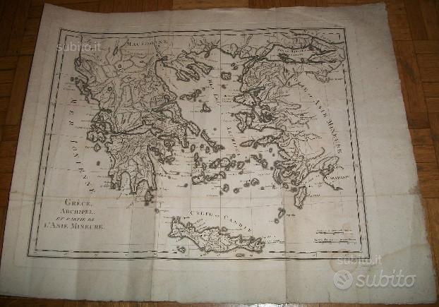 Cartina dell'800, Grecia e isole greche