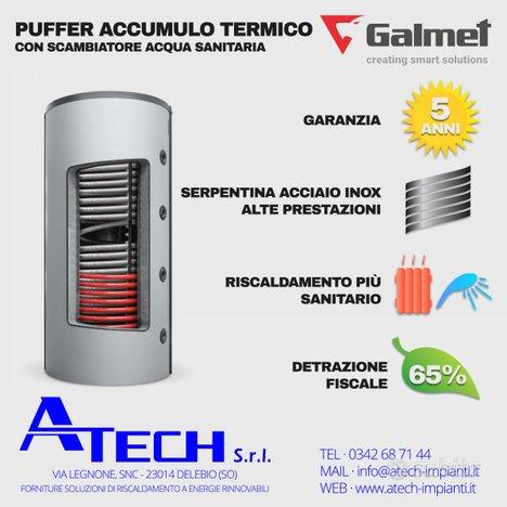 Accumulo termico Multi-Inox 600 litri Galmet
